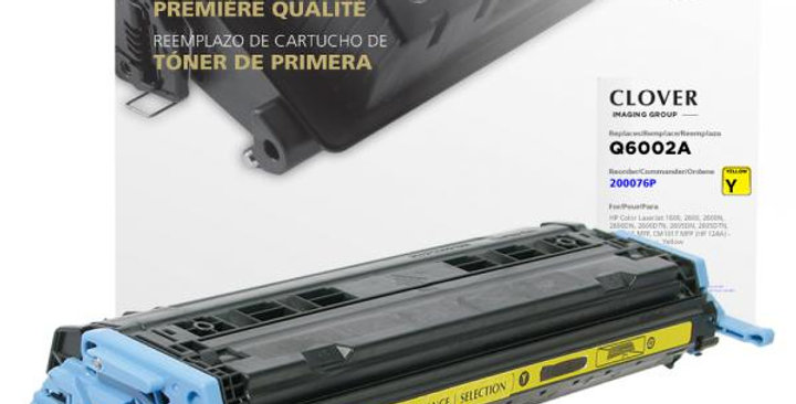 Yellow Toner Cartridge for HP Q6002A (HP 124A)
