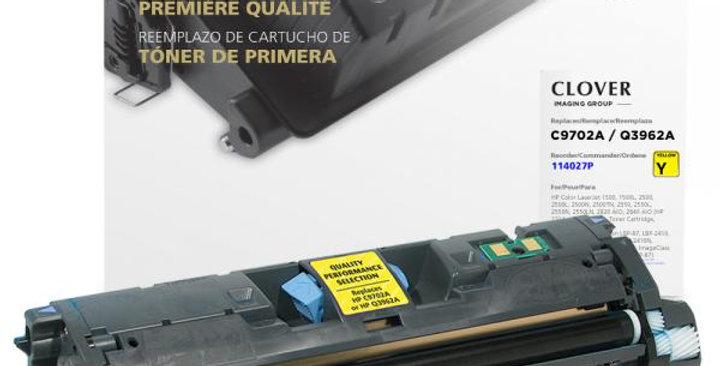 Yellow Toner Cartridge for HP C9702A/Q3962A (HP 121A/122A/123A)