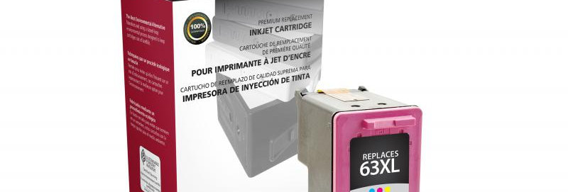 High Yield Tri-Color Ink Cartridge for HP F6U63AN (HP 63XL)