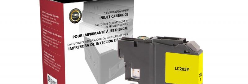 Super High Yield Yellow Ink Cartridge for Brother LC205XXL