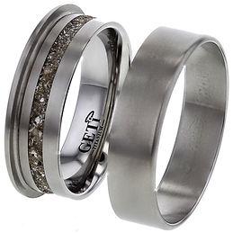 memorial titanium ashes ring