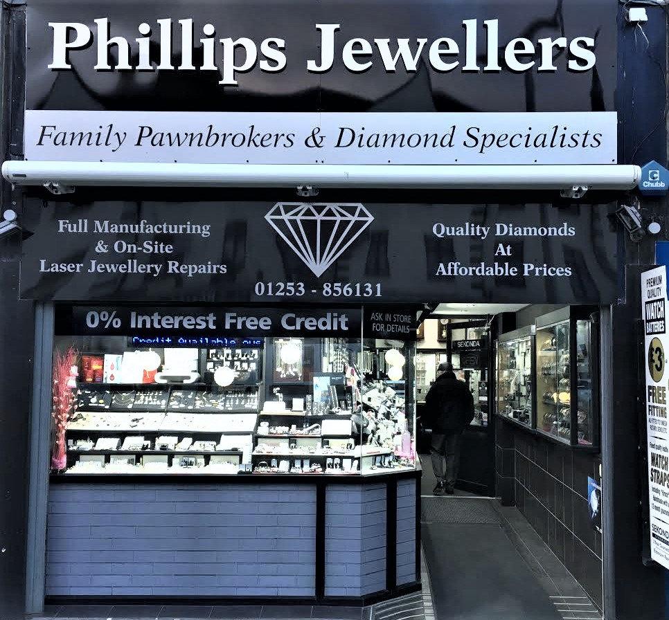 Phillips Jewellers shop cleveleys