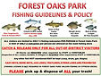 Forest Oaks Park Fishing Policy, Fishing