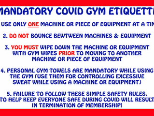 GYM POLICY UPDATES