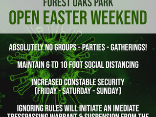 FOREST OAKS PARK & EASTER WEEKEND