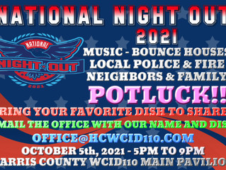 2021 National Night Out Event POTLUCK
