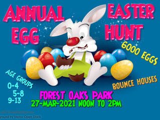 Annual Easter Egg Hunt THIS SATURDAY!!!