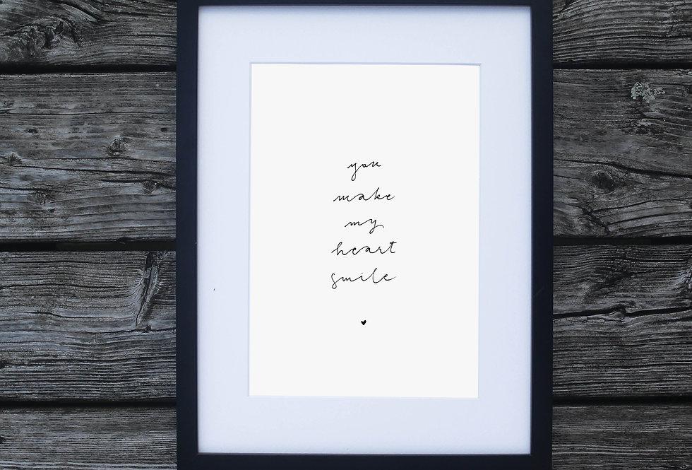 Personalisierbarer Print als Design Geschenk für eine ganz besondere Person