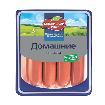 """Сосиски """"Домашние"""" ТМ """"Мясницкий ряд"""""""