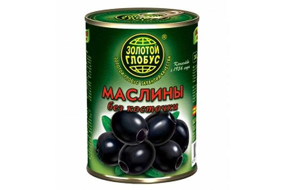 """Маслины без косточки ТМ """"Золотой глобус"""" 300 мл"""