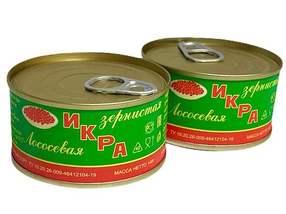 Икра красная зернистая лососевая (горбуша) 140 грамм