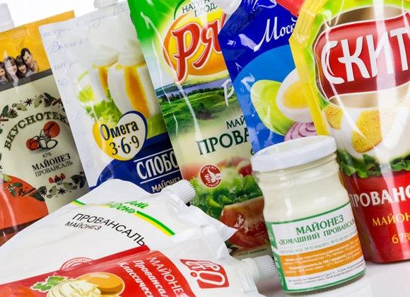 """Майонез """"Провансаль"""" 67% жирности в упаковке дой-пак в ассортименте"""