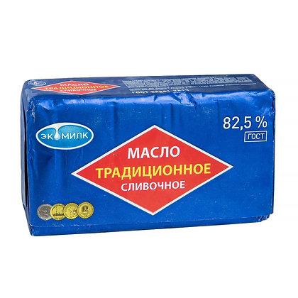 "Масло сливочное 82,5% ТМ ""Экомилк"" 450 грамм"