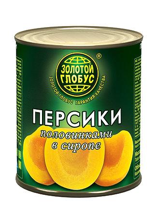 """Персики половинки консервированные ТМ """"Золотой глобус"""" 850 мл"""
