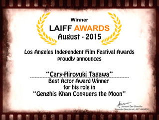 Congrats to Cary-Hiroyuki Tagawa winning Best Actor at the LAIFF Awards last night! ​
