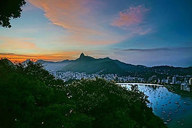Cool sunset after climbing #Sugarloaf 😎