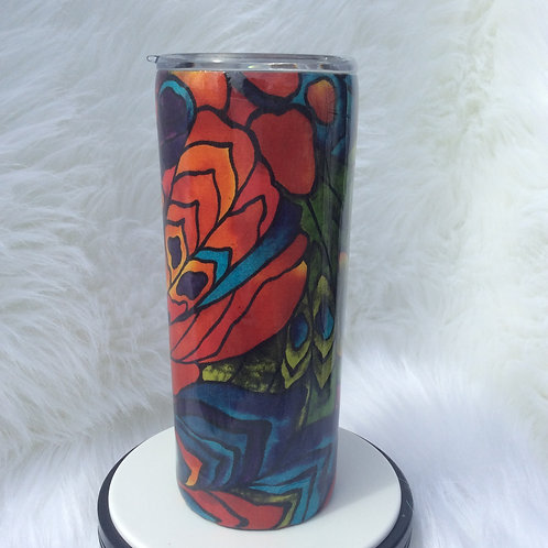 Red Blue Green Purple Thermal Tumbler