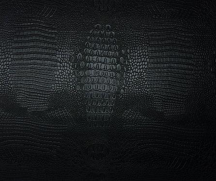 Vegan Leather - Black Crocodile