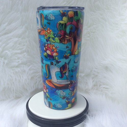 Turquoise Unicorn Sewing Machines Thermal Tumbler