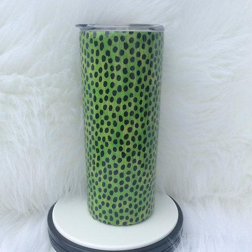 Lime Green Animal Print Thermal Tumbler