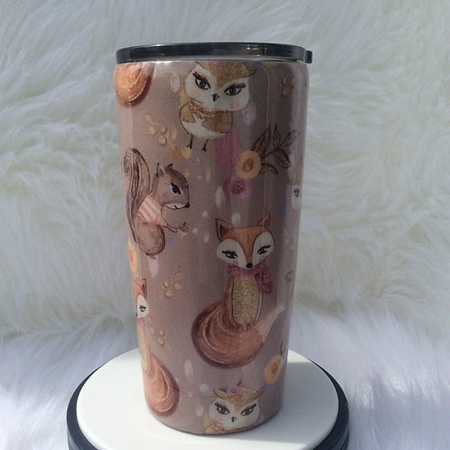 Woodland Animals Thermal Tumbler