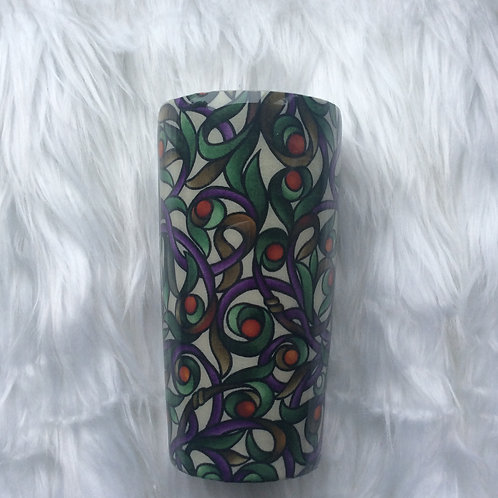 20oz Classic Tumbler - Stained Glass Green
