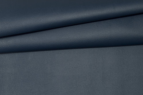 Vegan Leather Fabric - Navy