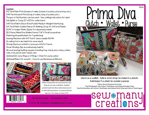 Prima Diva -- Clutch Wallet Purse