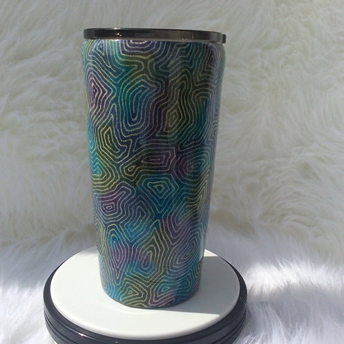 Blue Green Purple Thermal Tumbler