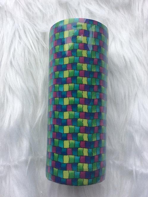 20oz Skinny Tumbler - Weave Multi