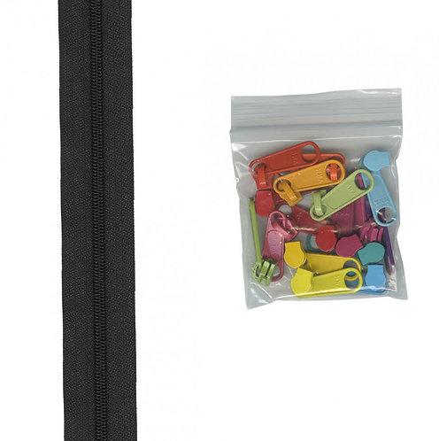 105M - Black Multi Handbag Zipper