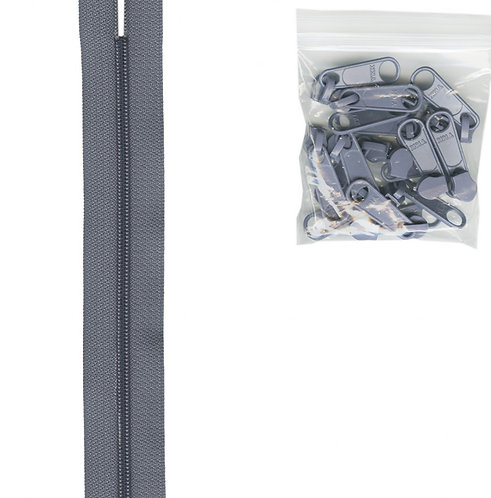 115 - Gunmetal Handbag Zipper