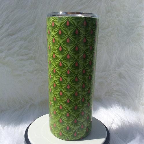 Tula Pink Frolic (Green) Serenity Thermal Tumbler