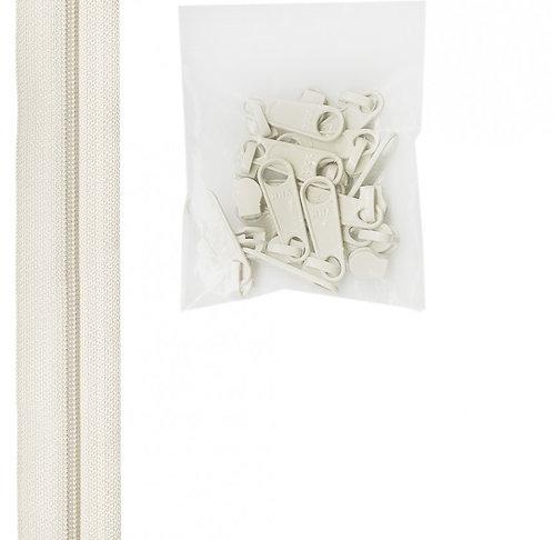 100 - White Handbag Zipper