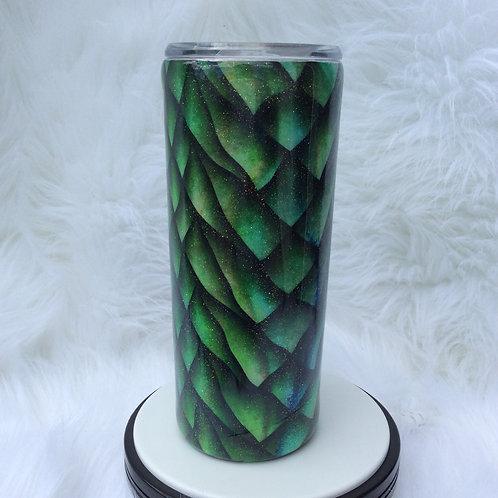 Dragon Skin Green Thermal Tumbler