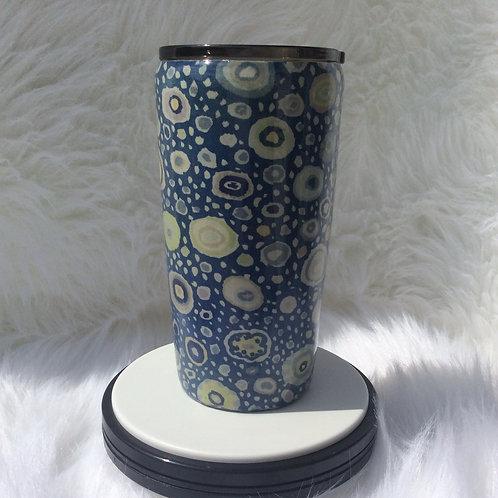 Kaffe Roman Glass Blue Thermal Tumbler