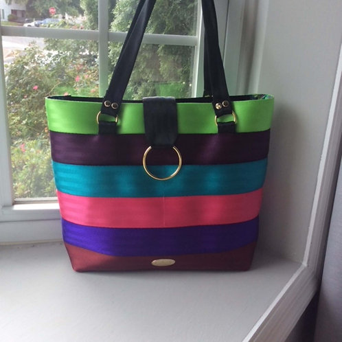 Multi Stripe Seat Belt Bag