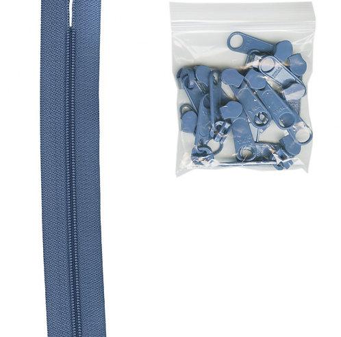 220 - Country Blue Handbag Zipper