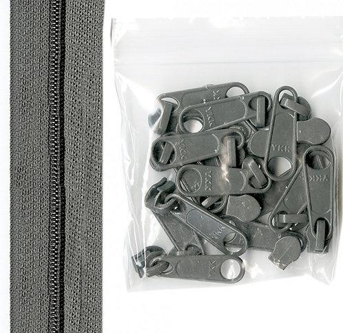 110 - Pewter Handbag Zipper