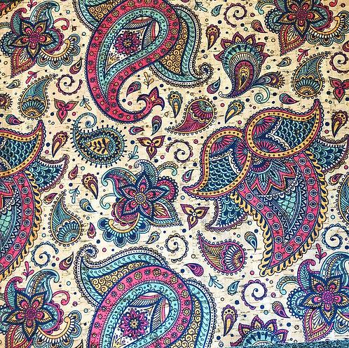 Cork Fabric - Paisley