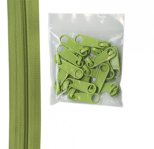 200 - Apple Green Handbag Zipper