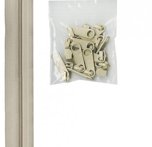 130 - Natural Handbag Zipper