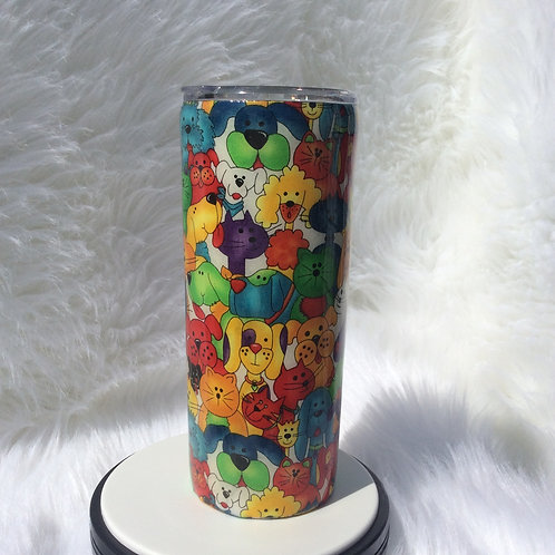 Moda Cats and Dogs Thermal Tumbler
