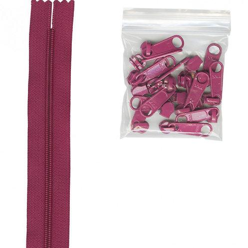 258 - Wild Plum Handbag Zipper