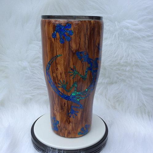 Wood Grain Gecko Thermal Tumbler