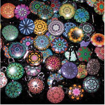 Kaleidoscope Zipper Pulls Wholesale - 100 pcs