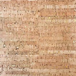 Cork Fabric - Natural Gold