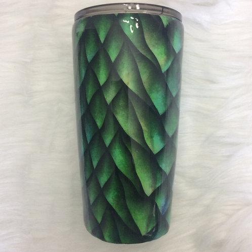 20 oz Classic Tumbler - Dragon Scales Green