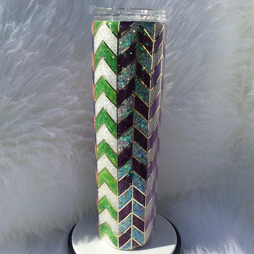 Multi-Colored Tangram Thermal Tumbler