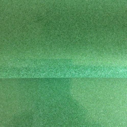 "18"" Vegan Leather Fabric - Mint Glitter"